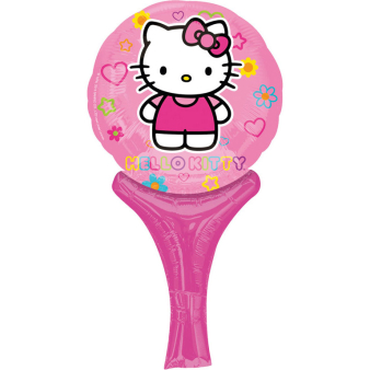 Inflate-A-Fun Hello Kitty Pink Foil Balloon A05 Packaged 15 x 30 cm