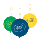 3 Latex Balloons Punch Balls Boom! Bang! Pow! 40.6 cm / 16""