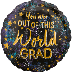 Standard Out of This World Grad Foil Balloon S40 packaged
