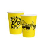8 Cups BVB Dortmund Paper  250 ml