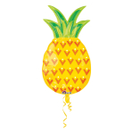 SuperShape Pineapple Foil Balloon P35 Packaged 43 x 78 cm