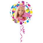 Standard Barbie Sparkle Happy Birthday Foil Balloon Round S60 Packaged 43 cm