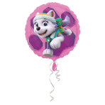 "Standard ""Paw Patrol Skye & Everest"" Foil Balloon Round, S60, packed, 43cm"