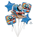 "Bouquet ""Thomas the Tank Engine"" 5 Foil Balloons , P75, packed"