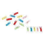 20 Party Clips Plastic Metallic 3.4 cm