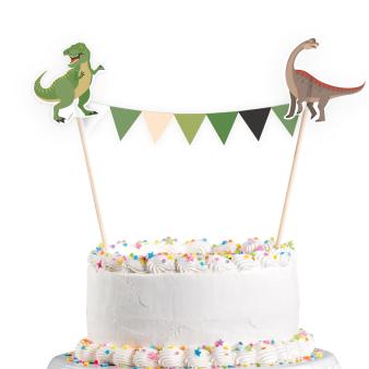 Cake Decoration Pennant Banner Happy Dinosaur 15 x 20 cm