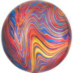 Marblez Colorful Foil Balloon G20 packaged