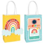 8 Bags Retro Rainbow DIY Paper 12.7 x 20.9 x 8.2 cm