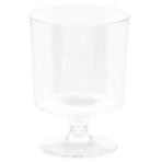 10 Mini Pedestal Plastic Clear147 ml