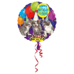 Sing-A-Tune Happy Birthday to Mew Foil Balloon P60 Packaged 71 x 71 cm