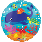 "Standard ""Under the Sea"" Foil Balloon Round S40 packed 43 cm"