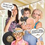 Photo Booth Kit Gold Anniversaries