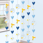6 String Decoration Christening Blue
