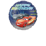 "Standard ""Cars - Happy Birthday"" Foil Balloon Round, S60, packed, 43cm"