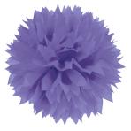 3 Fluffy Decorations New Purple Paper 40.6 cm