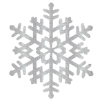 Hanging Decoration Snowflake Christmas Plastic 38.1 x 33 cm