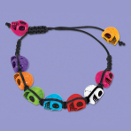 Costume Accessory Bracelet Skull Day of the Dead One Size