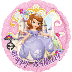 Standard Sofia the First Birthday Foil Balloon S60 Packaged 43 cm