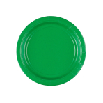 8 Plates Festive Green Paper Round 17.7 cm