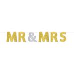 """Letter Banner Wedding Decorations glitter """"Mr. & Mrs."""""""