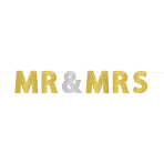 Letter Banner Wedding Decorations Glitter Mr. & Mrs. Paper 365 x 17.7 cm