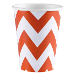 8 Cups Orange Peel Chevron Paper 266 ml