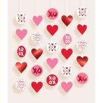 5 Hanging Circle Decoration Valentine`s Day