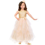 Child Costume Corolle Golden Ballgown Age 5 - 7 Years