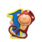Numeral Candle 1 Safari