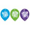 6 Latex Balloons Teenage Mutant Ninja Turtles 22.8 cm/9