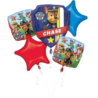 """Bouquet """"Paw Patrol  """" 5 Foil Balloons, P75, packed"""