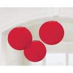 3 Lanterns Apple Red Paper 20.4 cm