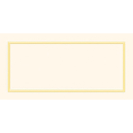 50 Placecards Paper Ivory Pearlised 10 cm