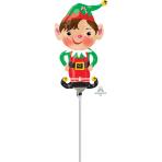 "Mini Shape ""Jolly Christmas Elf"" Foil Balloon A30 air filled"