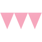 Pennant Banner Light Pink 450 cm