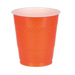 50 Cups Orange Peel Plastic 473 ml