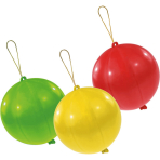 3 Latex Punch Balls assorted 35.5 cm / 14""
