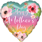 Jumbo Flowers and Ombre Mother's Day Foil Balloon P32 packaged