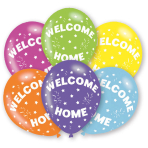 6 Latex Balloons Welcome Home