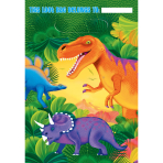 8 Party Bags Prehistoric Party Plastic 29.6 x 16.5 cm