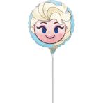 "9'' ""Frozen Elsa Emoticon"" Foil Balloon Round , A20, bulk, 23cm"