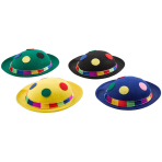 Hat Bowler Clown August Assorted Fabric One Size