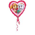 """Standard """"Paw Patrol Love - Girl"""" Foil Balloon Heart, S60, packed, 43 cm"""
