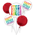 Bouquet Rainbow Wishes Foil Balloon P75 Packaged