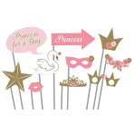 Photo Booth Kit Princess for a Day Paper / Plastic 10 Pieces