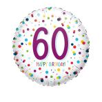 Standard EU Confetti Bday 60 Foil Balloon S40 packaged