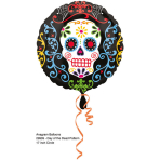 Standard Day of the Dead Foil Balloon S40 Packaged