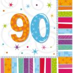 16 Napkins Radiant Birthday 9033 x 33 cm