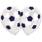 8 Latex Balloons Soccer All Over Print 25.4 cm/10''