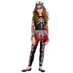 Teen Costume Day of the Dead Scared to the Bone Age 12 - 14 Years